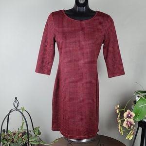 NORDSTROM PAPILLON Dress Red Black Plaid